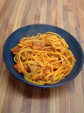 Spicy Mushroom and Sausage Pasta