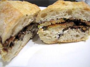 Breaded Courgette Ciabatta
