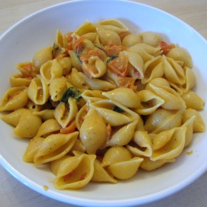Cherry Tomato and Cream Conchiglie