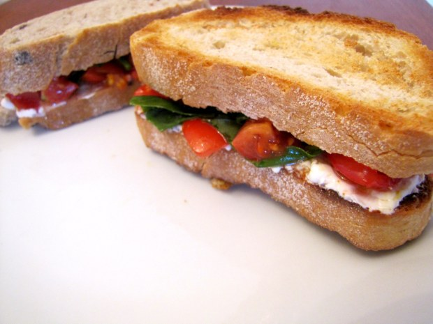 Tomato and Cream Cheese Panini